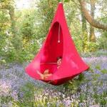 Cacoon hanging tent in chilli red