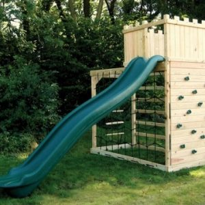Monkey Climber wooden climbing frame with slide and fort