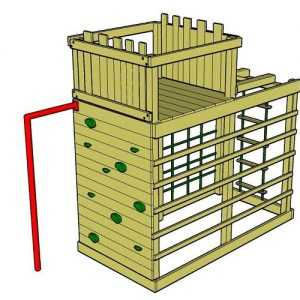 Monkey Climber wooden climbing frame with fort