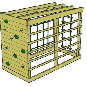 Monkey Climber wooden climbing frame with overhead monkey bar