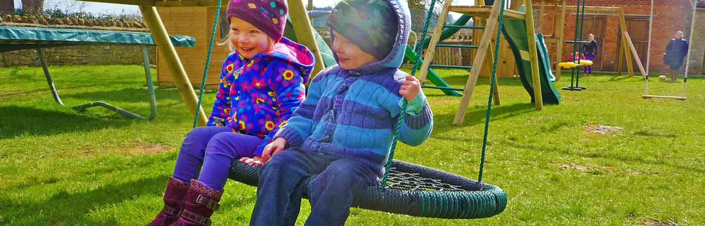 Swings at The Toy Barn Sherborne