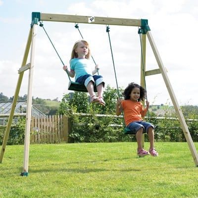 Tp 206 Forest Double Wooden Swing Set The Toy Barn