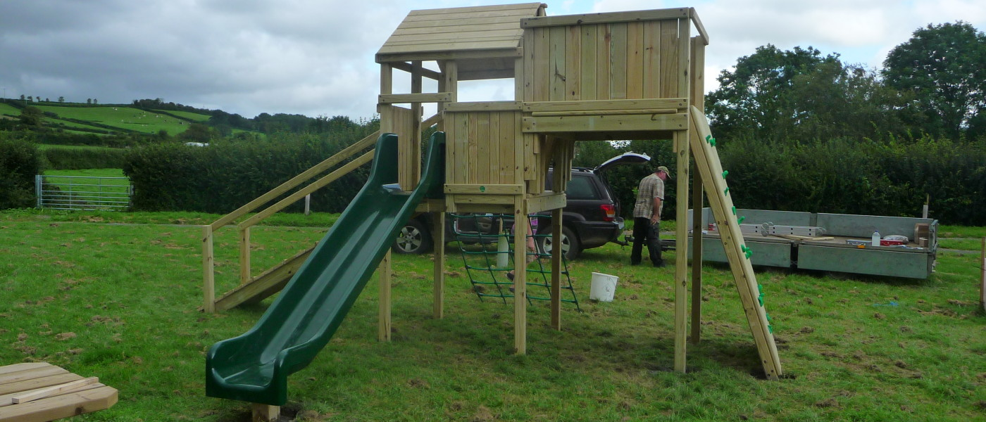 Climbing frame for park at Hardington Mandeville