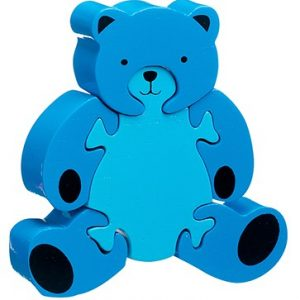 Wooden bear puzzle in blue By Lanka Kade