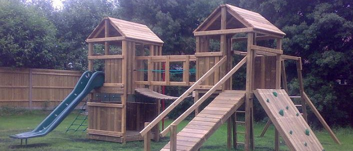 Climbing frame for park at Frome Valley