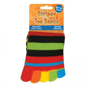 Stripey Toe Socks