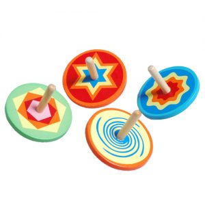 Colourful Wooden Spinning Top