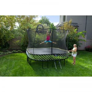 Square 11ft Springfree Trampoline and enclosure