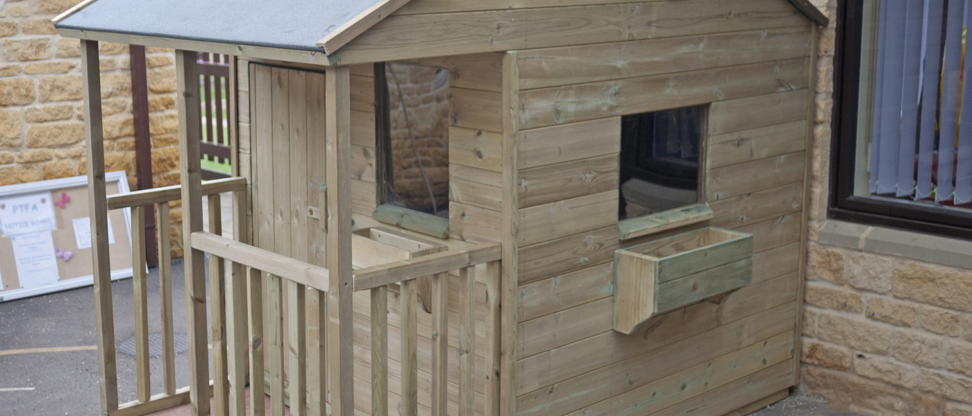 Wooden play house for schools